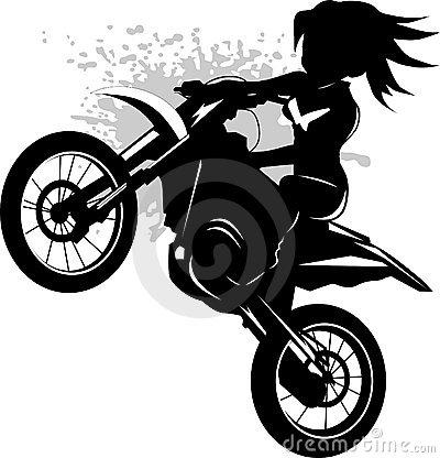 Pretty Biker Woman Stock Images.