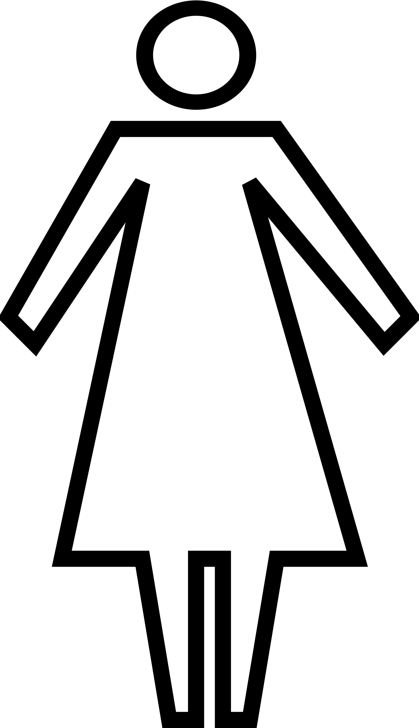 Outline Of Woman.
