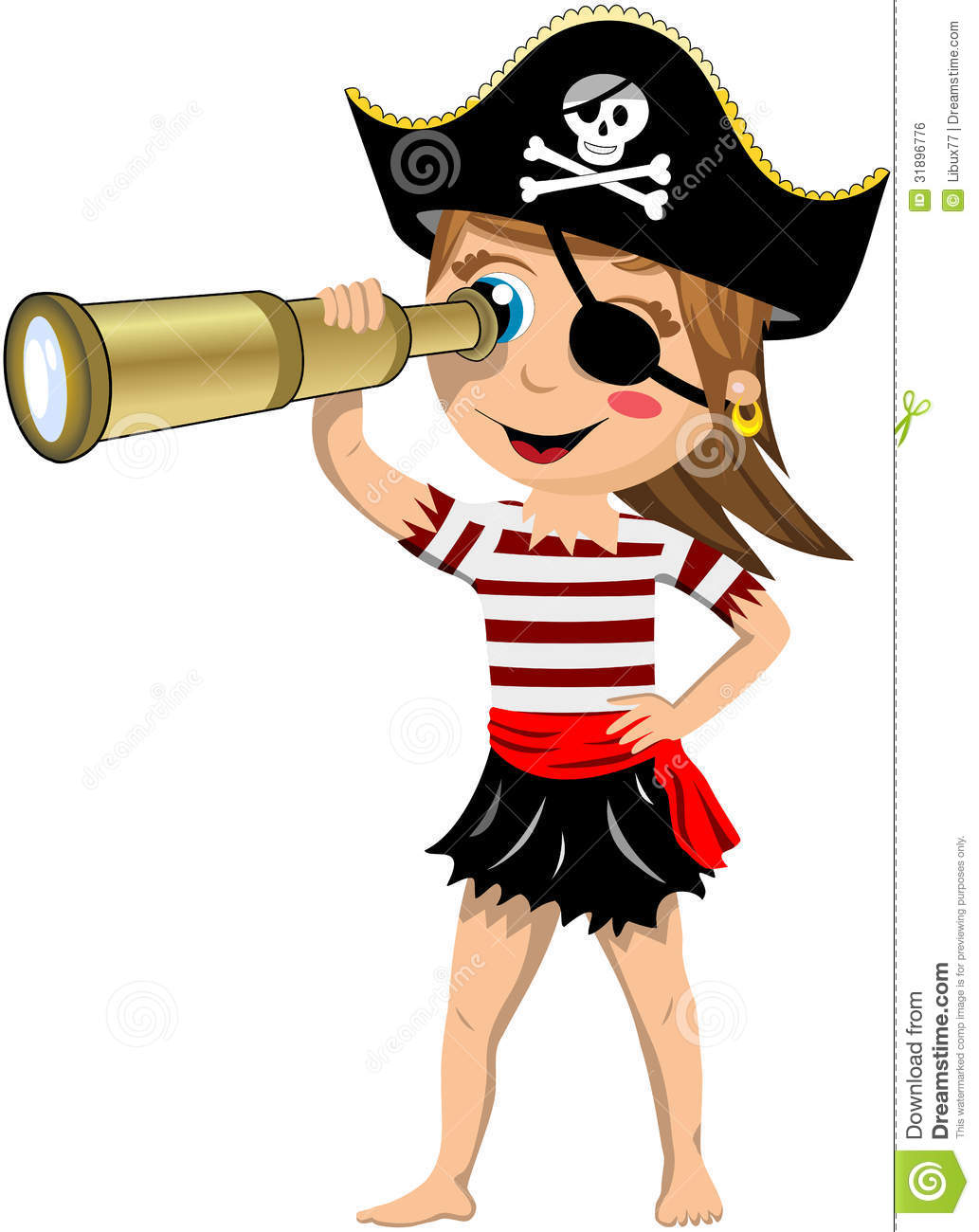 Pirate Woman Clipart.