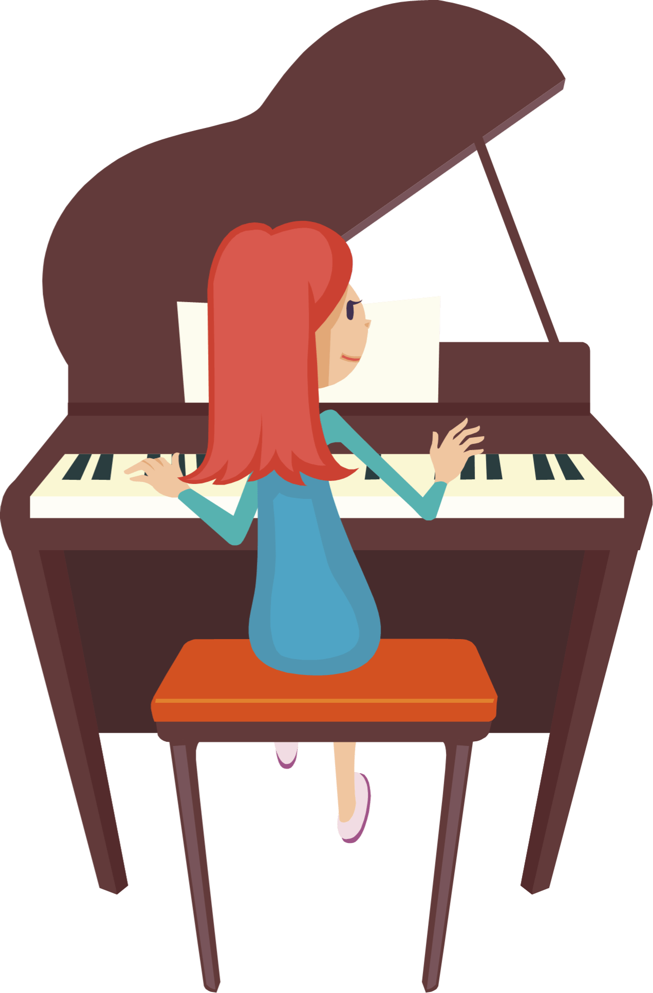 Woman playing piano clipart 3 » Clipart Portal.