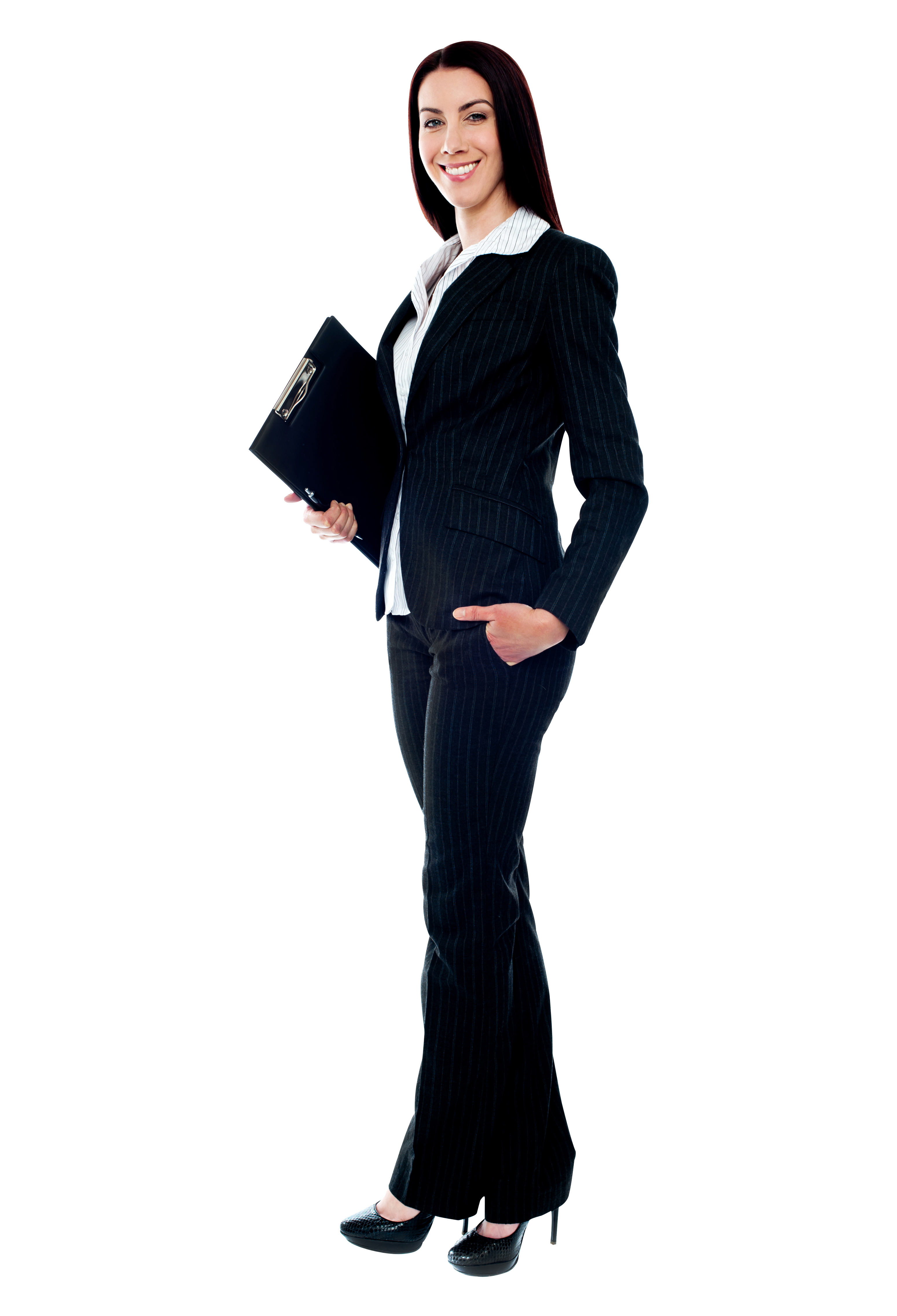 Women In Suit PNG Image.