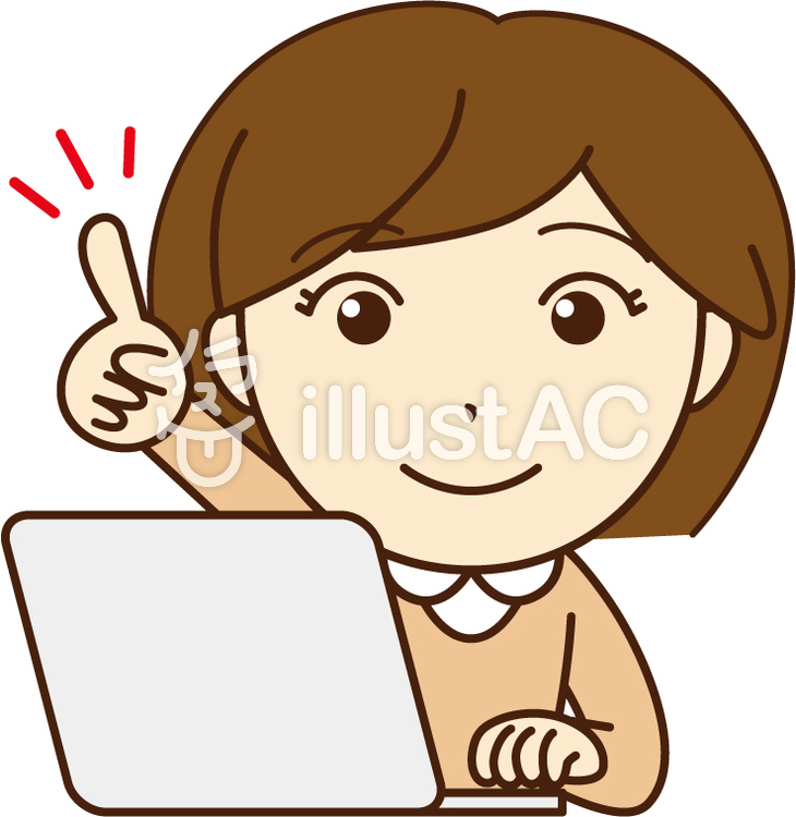 Woman pointing at a computer while using a computer · OL.