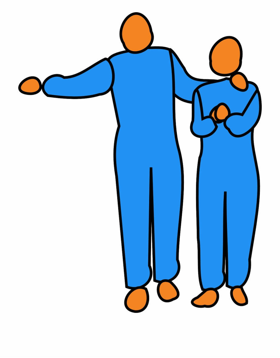 Man Pointing Woman Encouragement Png Image Encouragement.