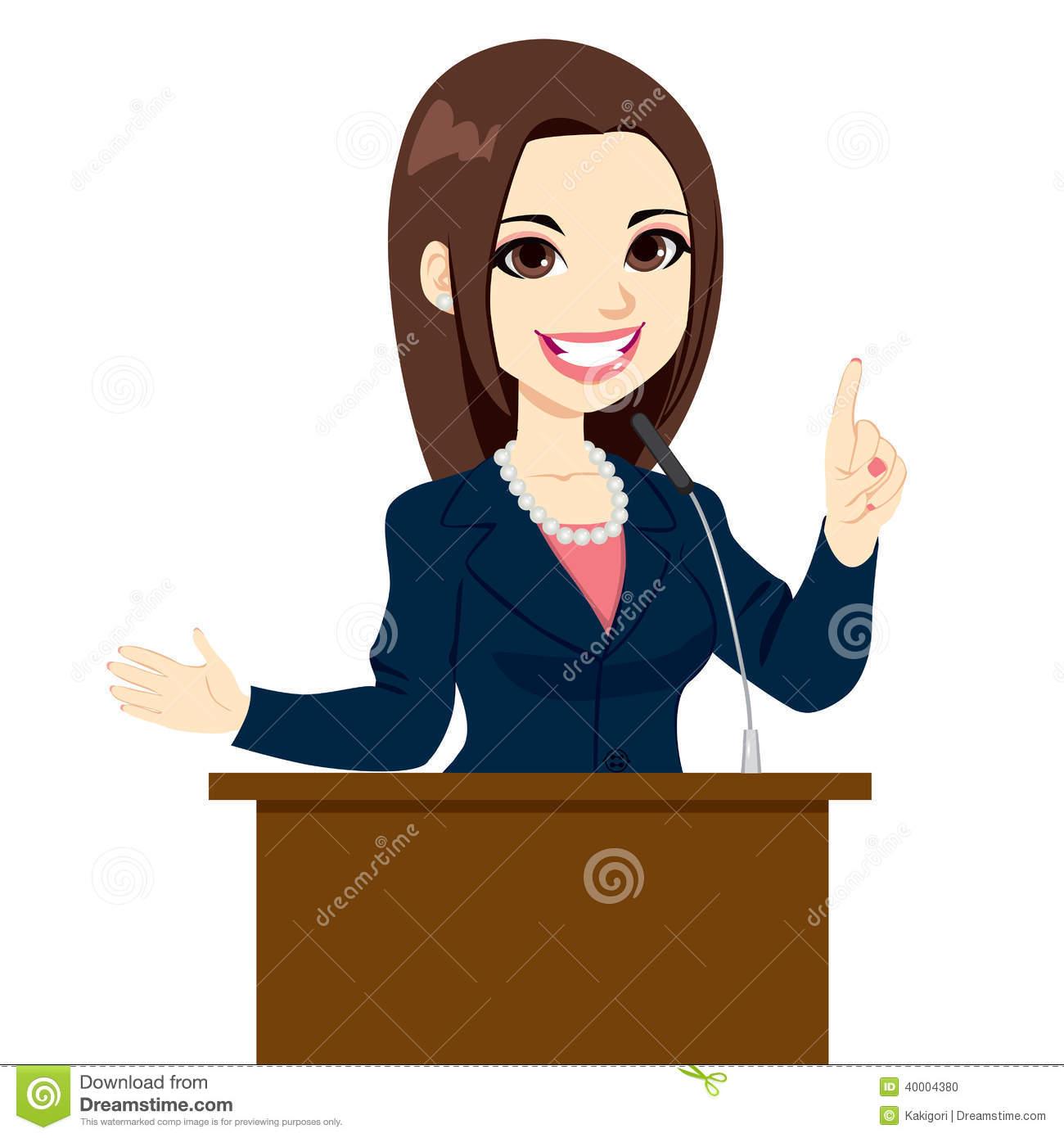Female Politician Clipart.