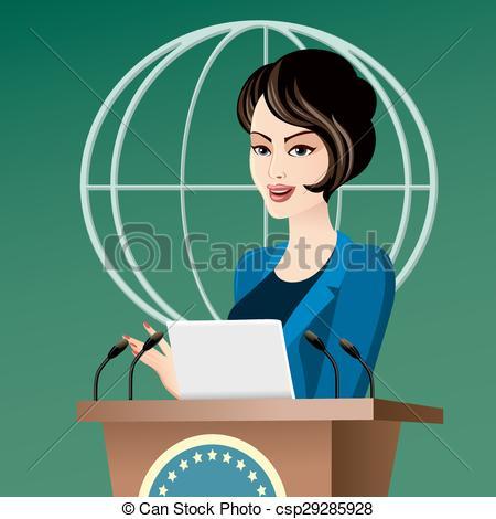 Vector Illustration of Politician woman.
