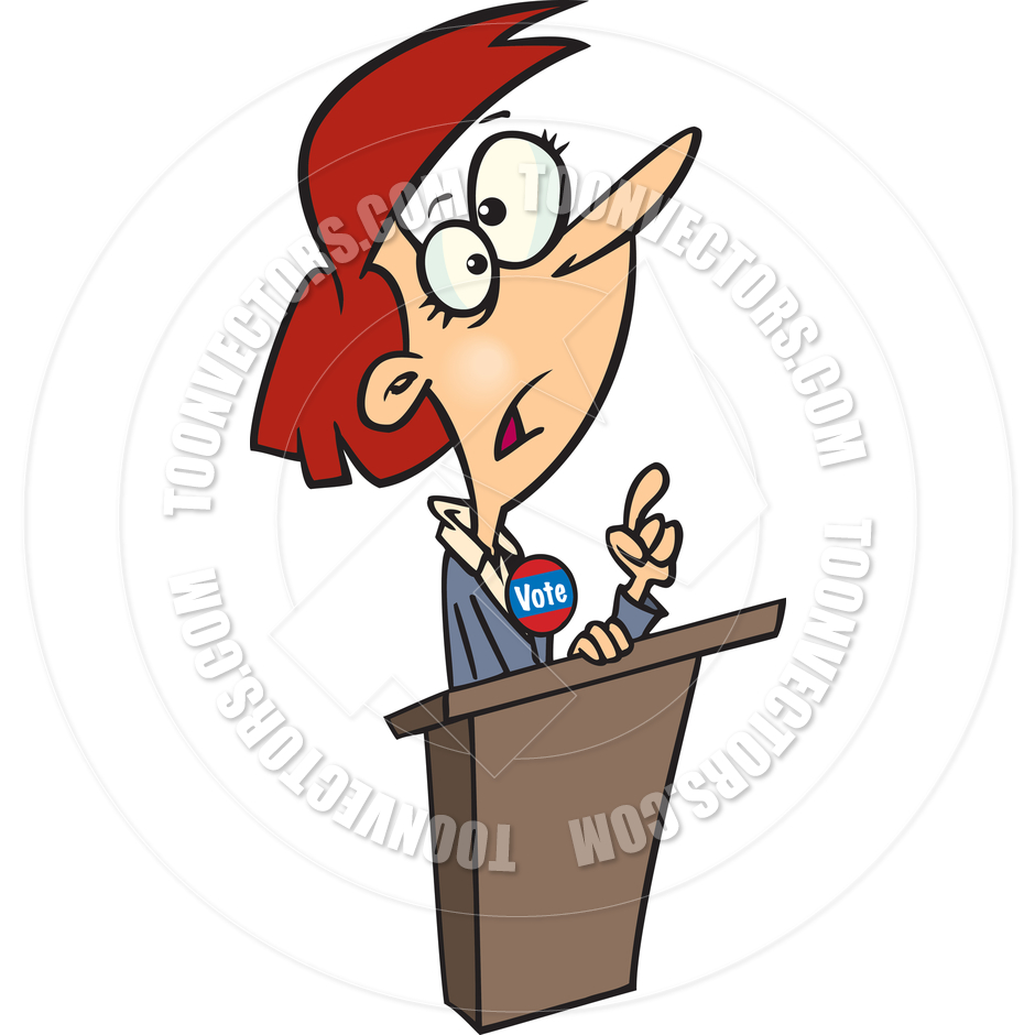 Cartoon Politician Woman by Ron Leishman.
