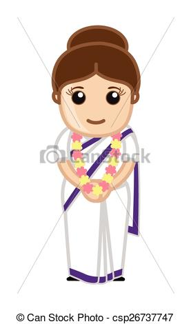 EPS Vector of Cute Indian Political Lady.