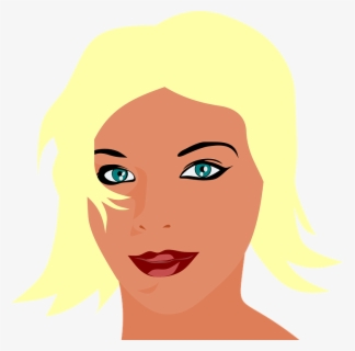 Free Blonde Hair Clip Art with No Background.