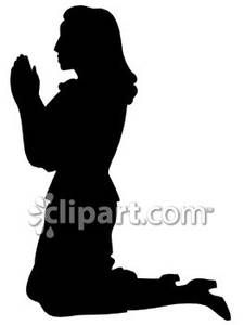 Women In Prayer Clip Art.