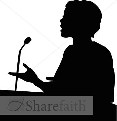 Female Speaker in Silhouette.