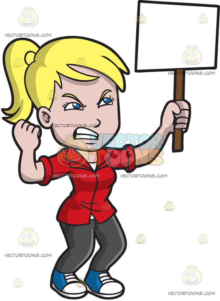 Women Protesting Clipart.