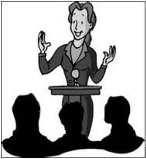 Showing post & media for Confident speaker cartoon.