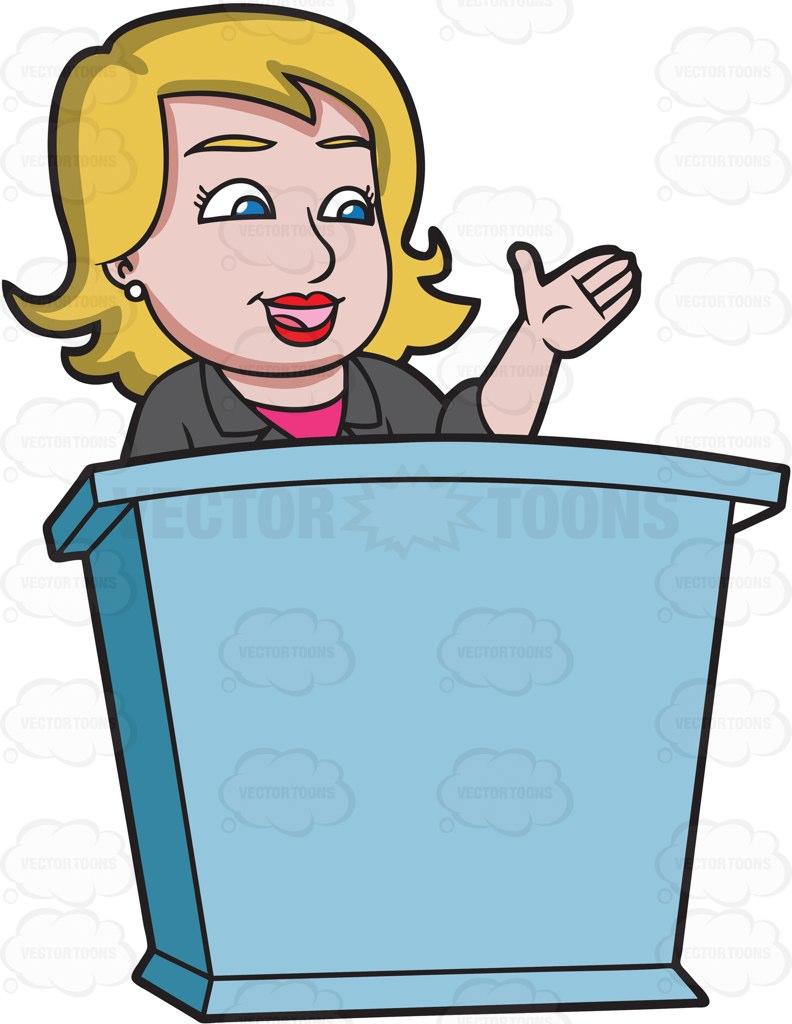 public speaking Cartoon Clipart.