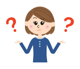 Girl With Question Mark Clipart.