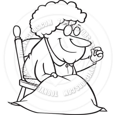 Woman Quilting Clipart.