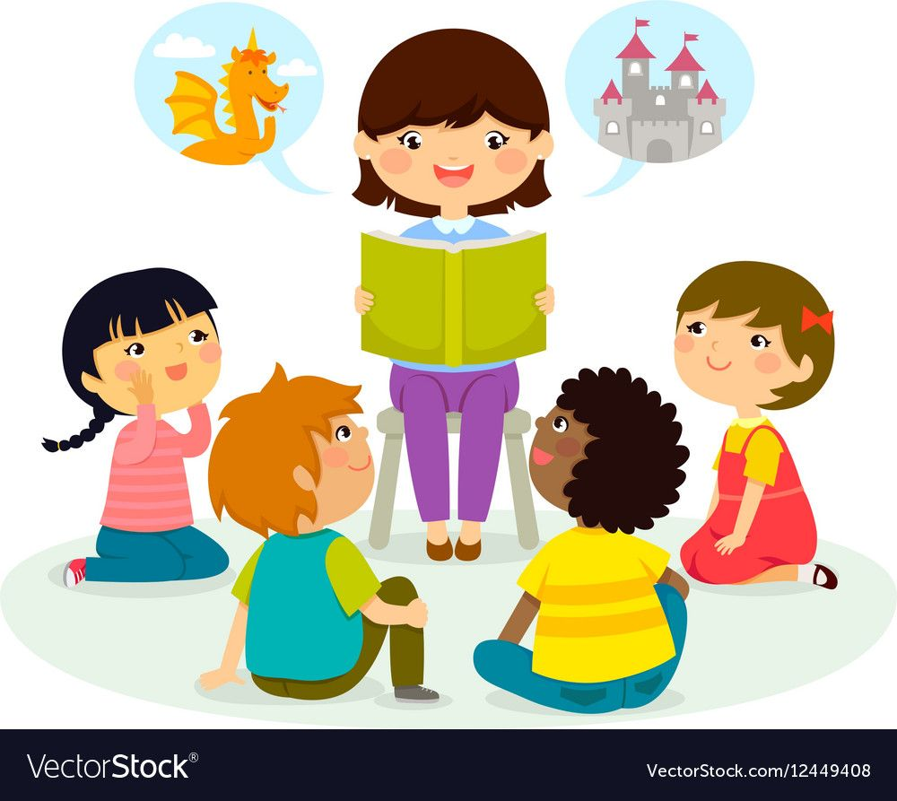 Story time Royalty Free Vector Image.