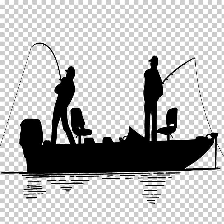 Bass fishing Wedding cake topper Fishing vessel Silhouette.