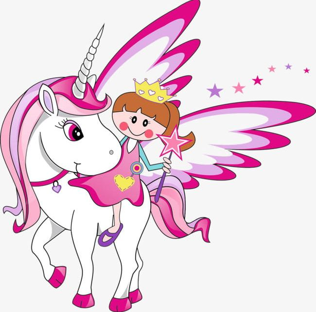 Little Girl And Unicorn PNG, Clipart, Girl, Girl Clipart.