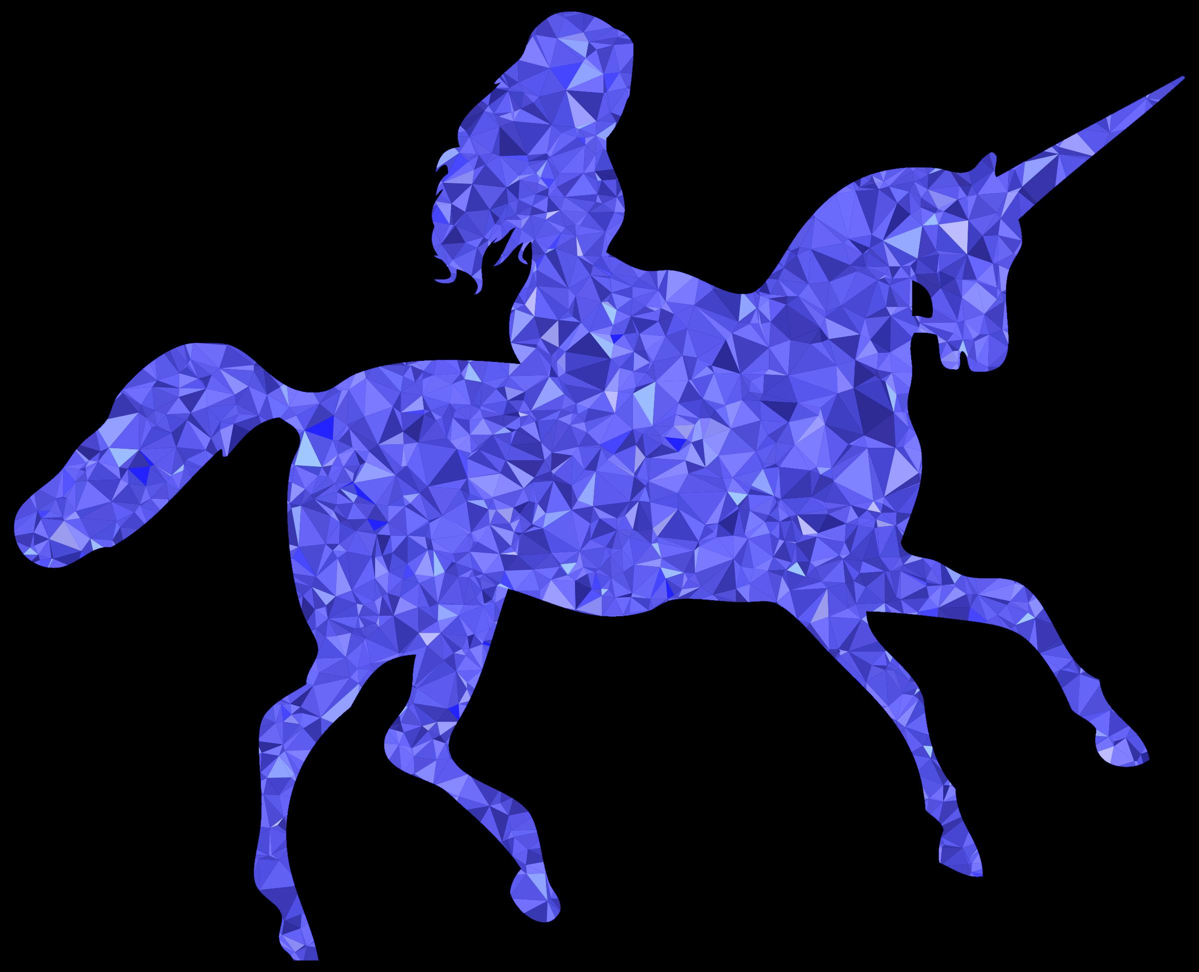 Girl Riding Unicorn Clipart.