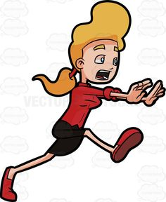 Running Shoes For Women Cartoon Clipart.