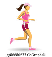Woman Running Clip Art.