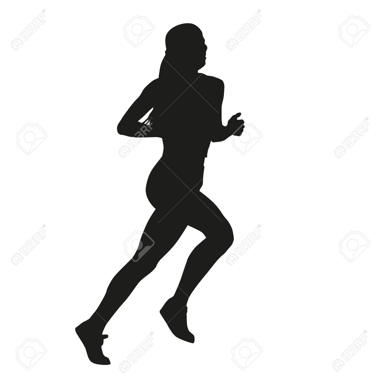 Silhouette Running Girl.