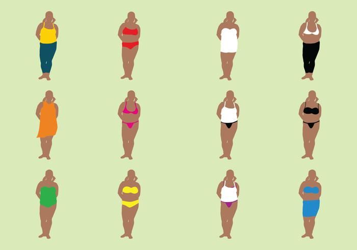 Fat Woman In Bathing Suits.