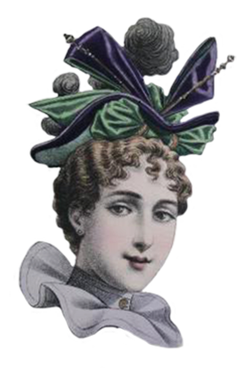 Victorian Ladies Dress Hats Clip Art.