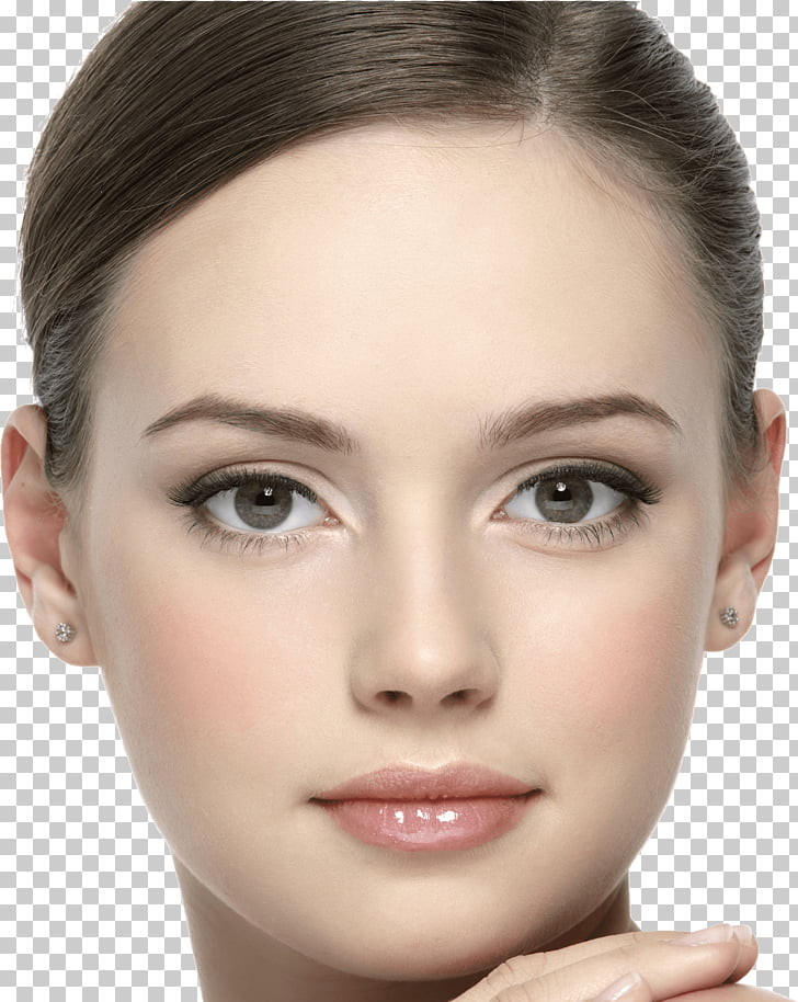 Young Brunette Face, woman\'s face PNG clipart.