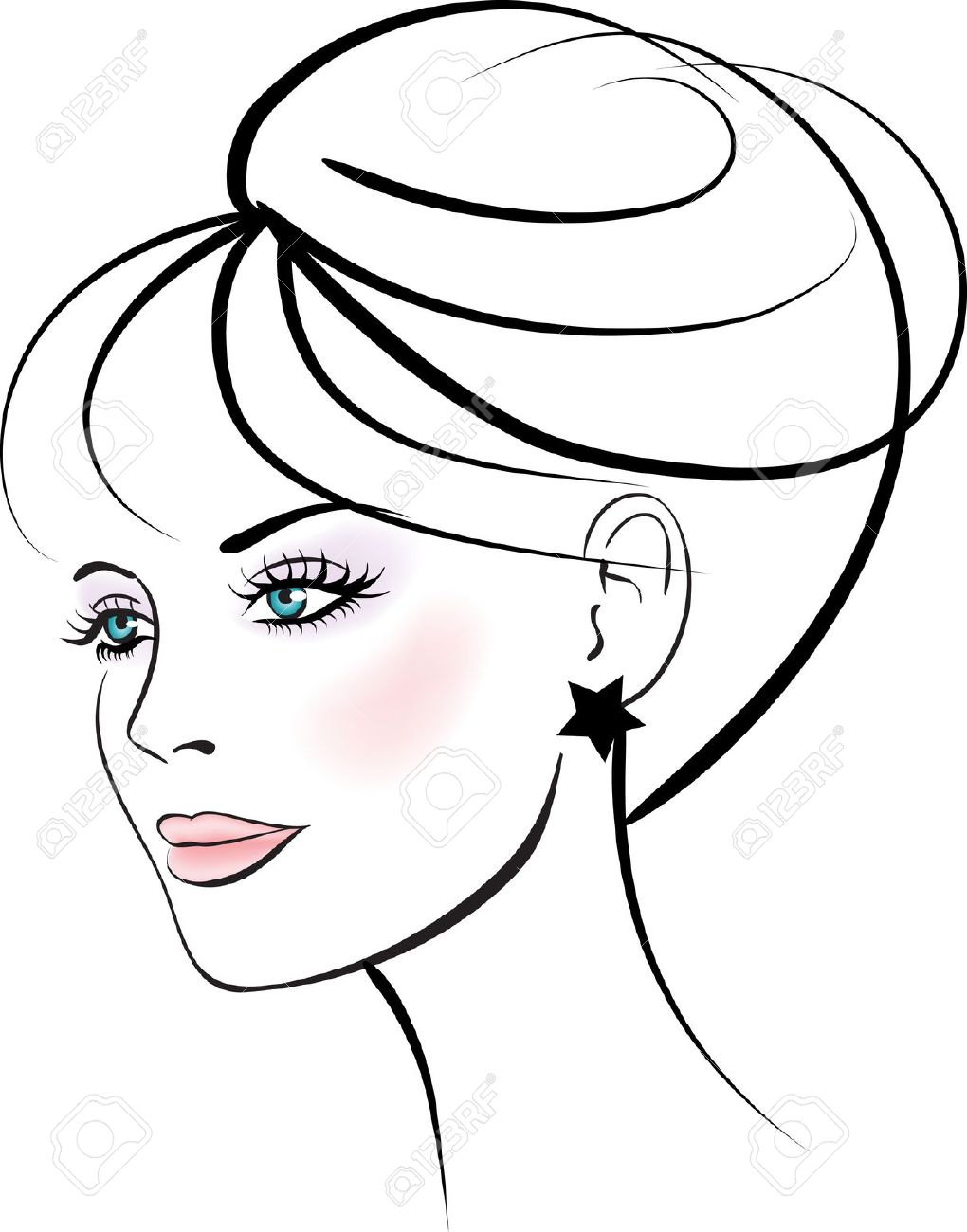 How To Draw A Silhouette Of A Woman\'s Face.