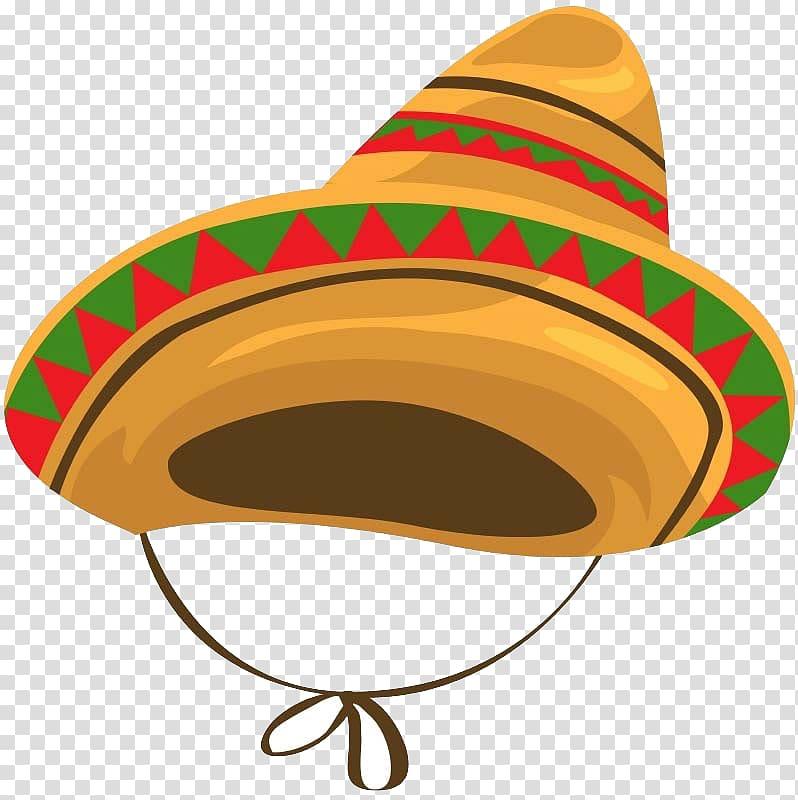 Brown sumbrero illustration, Mexican cuisine Sombrero Hat.