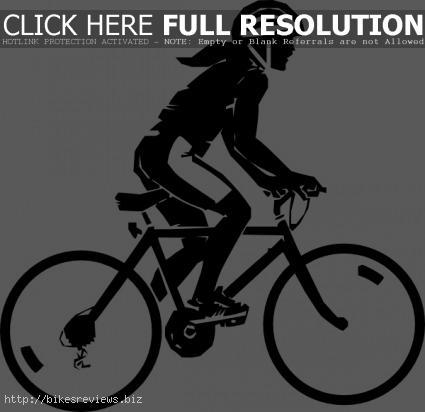 women mountain bike clip art.