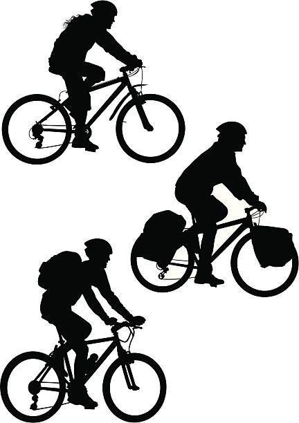 Mountain Bike vector art illustration.