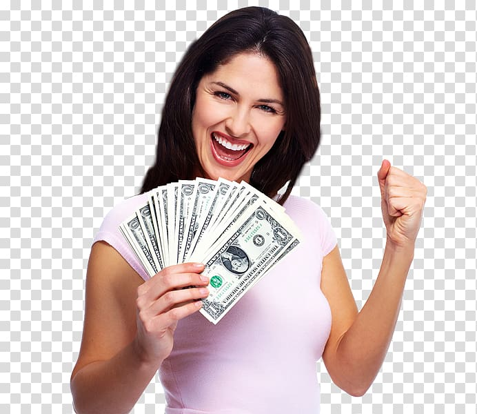Money Saving Investment Tax, woman transparent background.