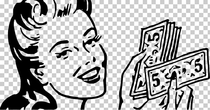 Money Pop art Saving , Money woman PNG clipart.