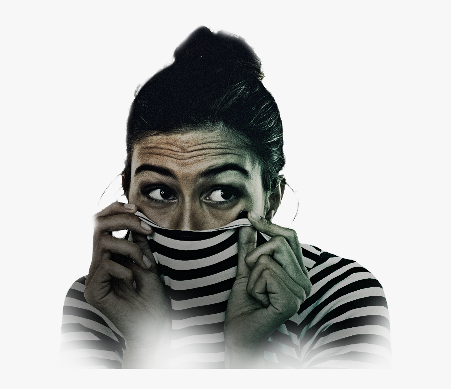 Scared Woman Png , Free Transparent Clipart.