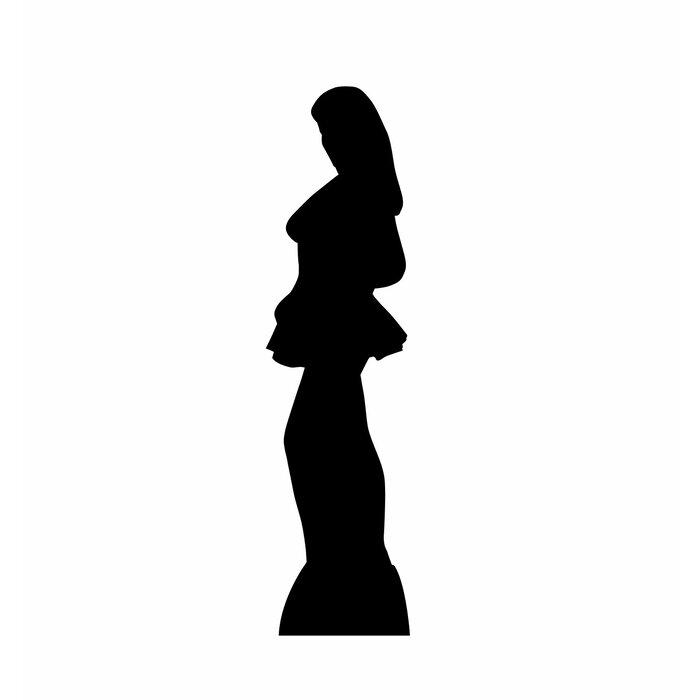 Woman Side Profile Silhouette Cardboard Stand.