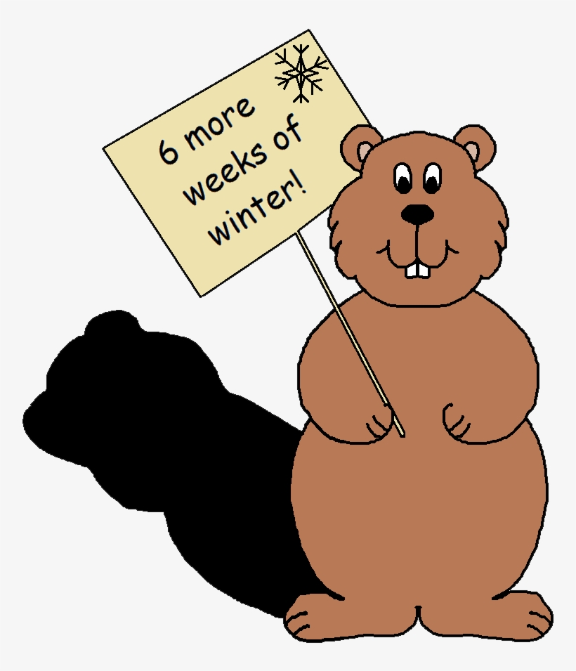 February Clipart Groundhog\'s Day.
