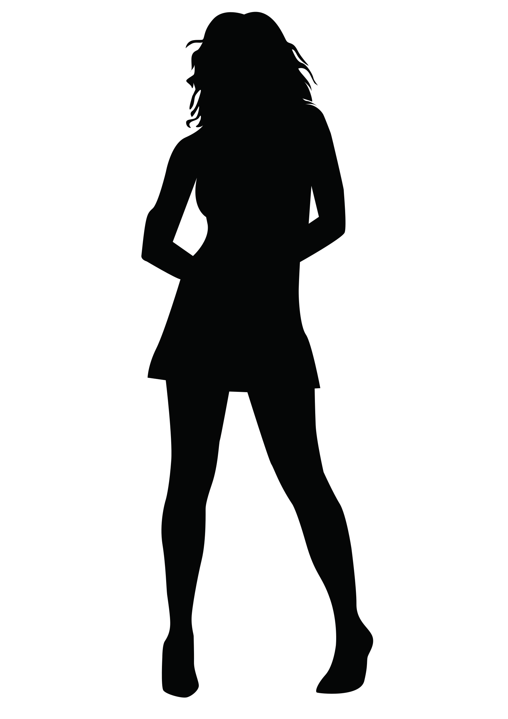 Female clipart shadow Transparent pictures on F.