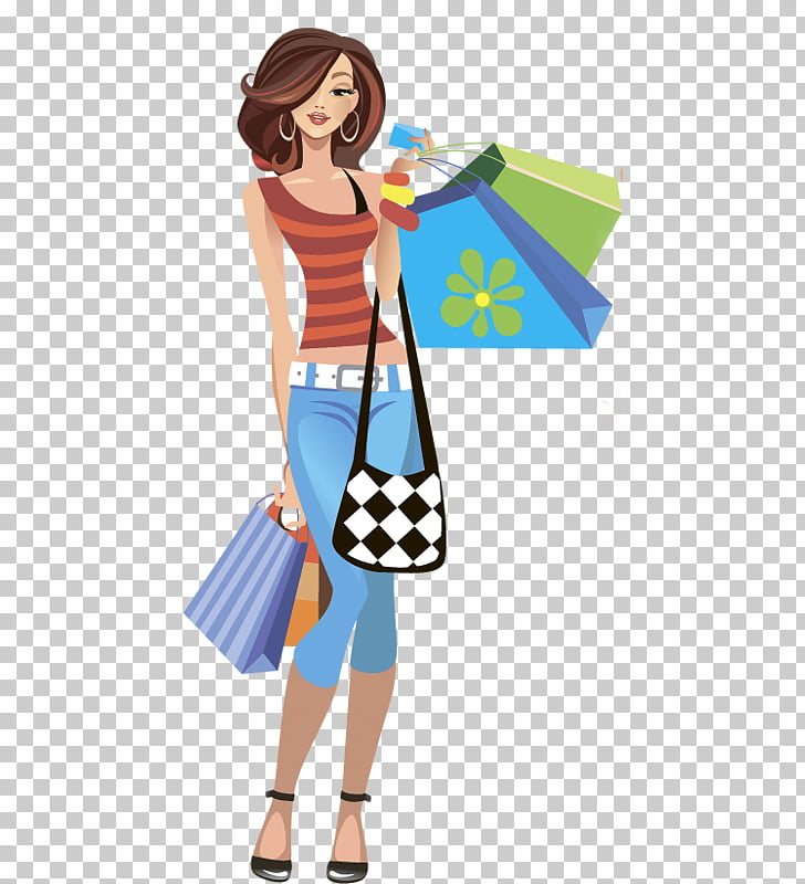 Shopping Woman Fashion , woman PNG clipart.