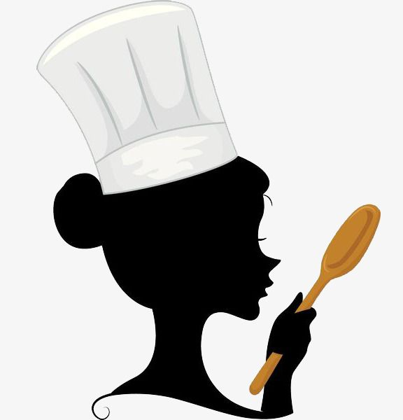 A Woman Chef With A Spoon In Her Hand, Woman Clipart, Chef.