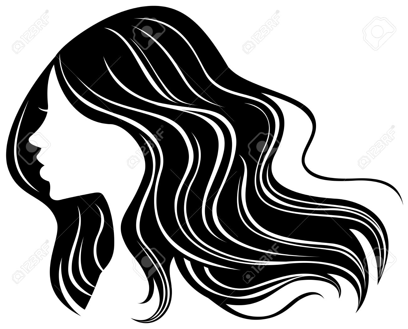 Woman Face Silhouette Hair.