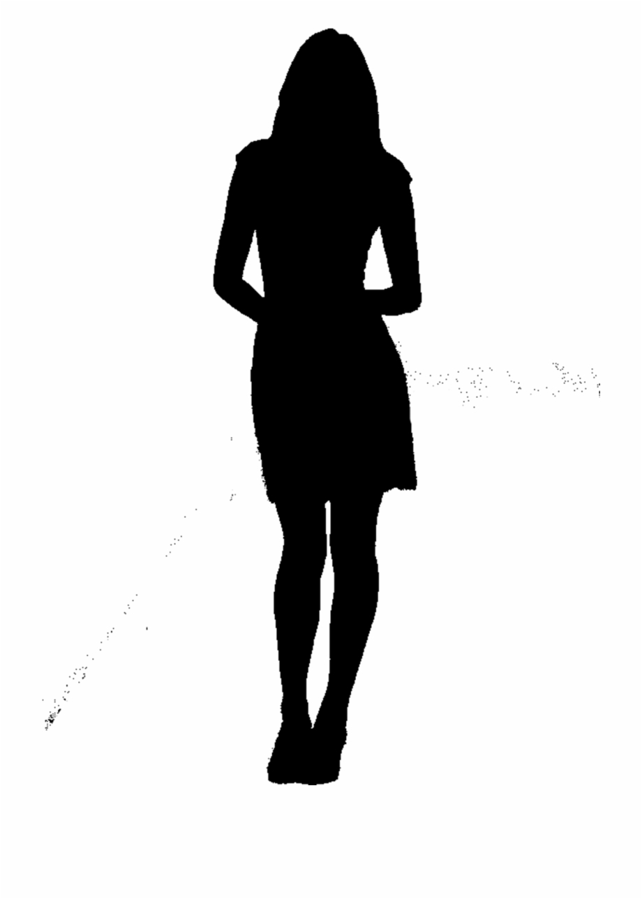 Woman Silhouette Png Sad , Png Download.