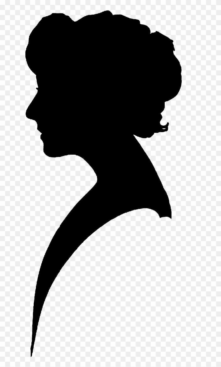 Silhouette Clipart Vintage Woman Silhouette Free Silhouette.