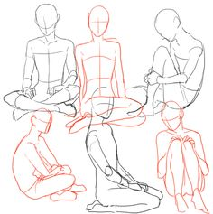 how to draw crossed legs.