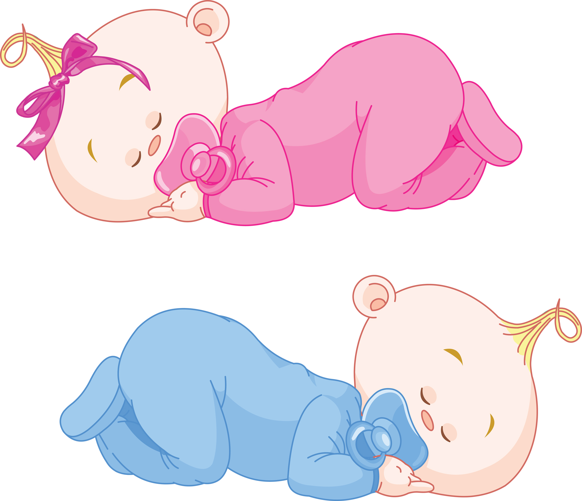 Woman Sleeping In Bed Clipart.