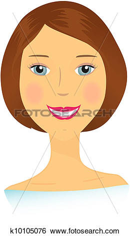 Stock Illustration of beautiful isolated smiling woman k10105076.