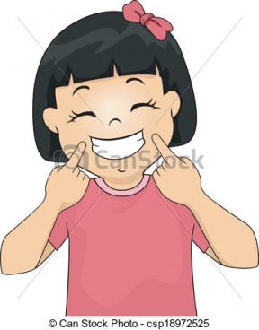 Smiling Girl Flower Clipart.