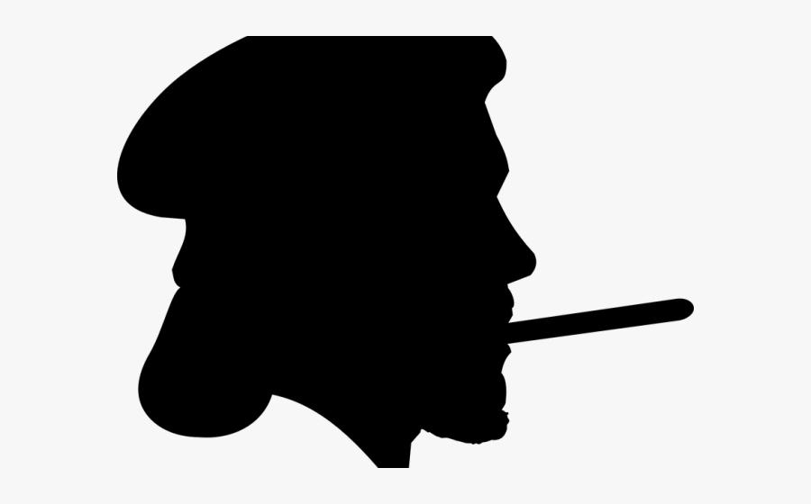 Man Smoking Cigar Silhouette , Free Transparent Clipart.