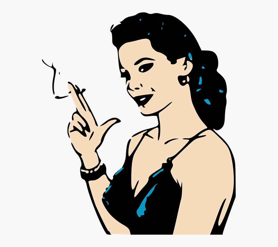 Woman Smoking Cigarette Png , Free Transparent Clipart.